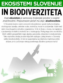 Biodiverziteta na razstavnih panojih
