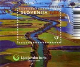 Ljubljansko barje na poštnih znamkah