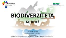 Prosojnice o biodiverziteti za predavanja v osnovnih šolah